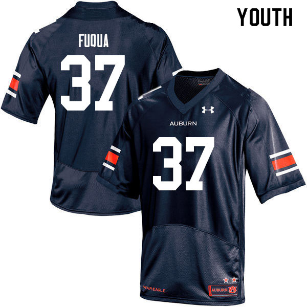 Youth #37 Kolbi Fuqua Auburn Tigers College Football Jerseys Sale-Navy