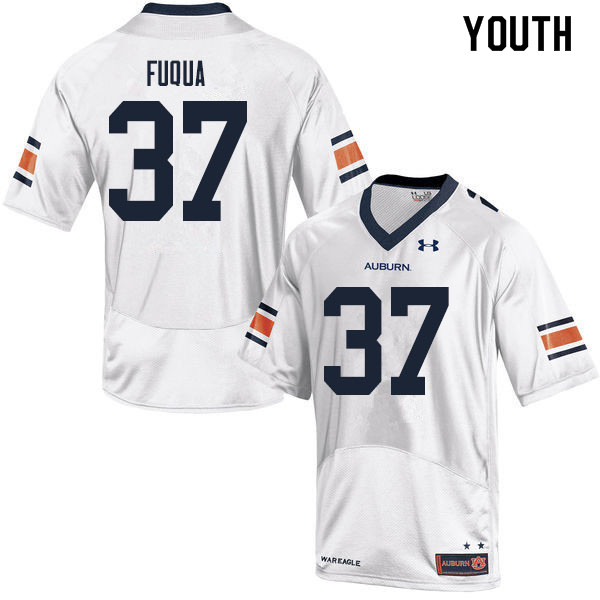 Youth #37 Kolbi Fuqua Auburn Tigers College Football Jerseys Sale-White