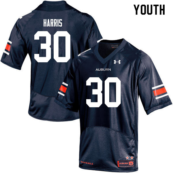 Youth #30 Michael Harris Auburn Tigers College Football Jerseys Sale-Navy