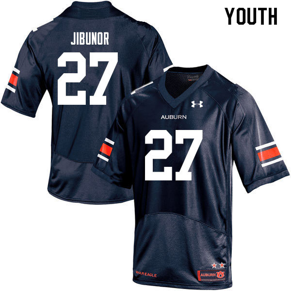 Youth #27 Richard Jibunor Auburn Tigers College Football Jerseys Sale-Navy