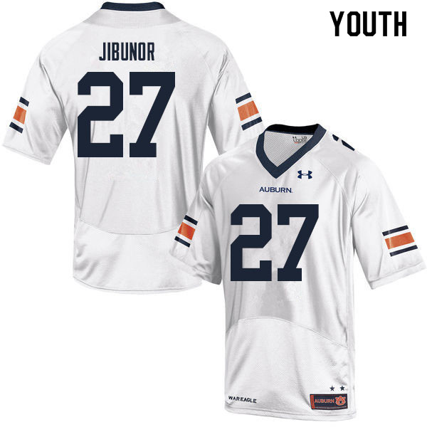 Youth #27 Richard Jibunor Auburn Tigers College Football Jerseys Sale-White