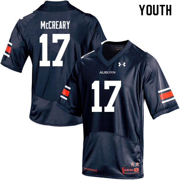 Youth #17 Roger McCreary Auburn Tigers College Football Jerseys Sale-Navy