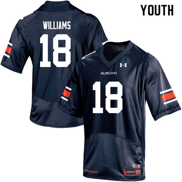 Youth #18 Seth Williams Auburn Tigers College Football Jerseys Sale-Navy