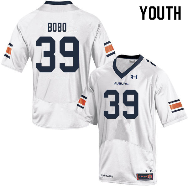 Youth #39 Chris Bobo Auburn Tigers College Football Jerseys Sale-White
