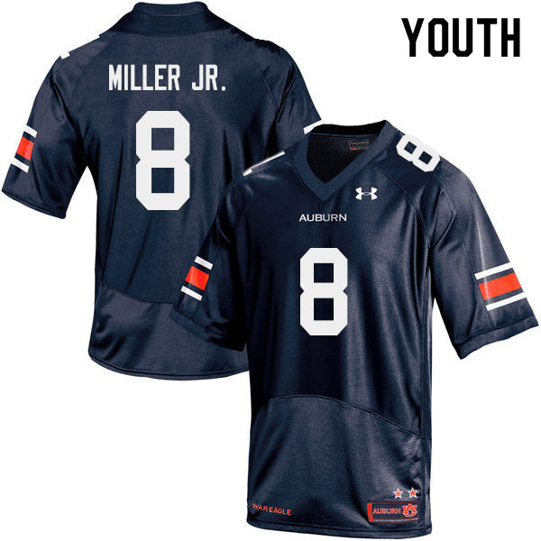Youth #8 Coynis Miller Jr. Auburn Tigers College Football Jerseys Sale-Navy