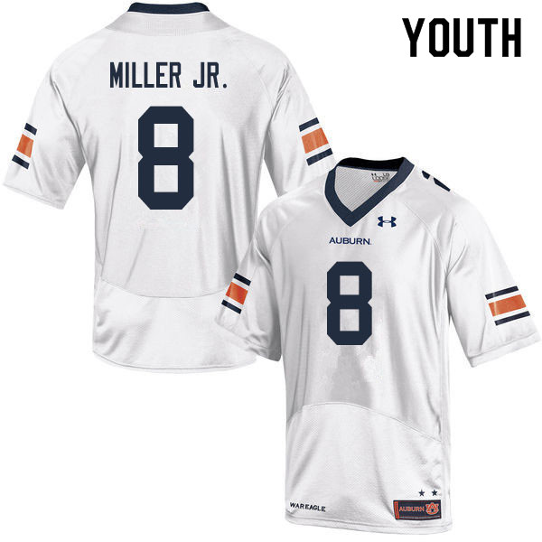 Youth #8 Coynis Miller Jr. Auburn Tigers College Football Jerseys Sale-White
