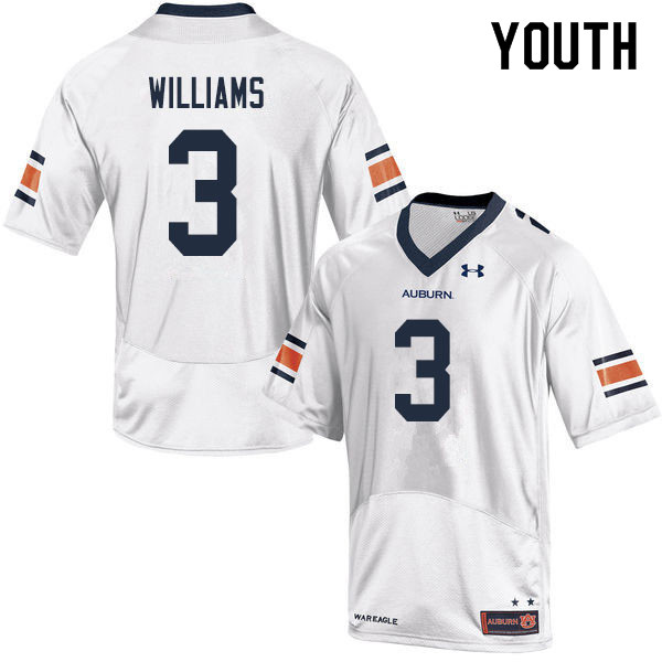 Youth #3 D.J. Williams Auburn Tigers College Football Jerseys Sale-White