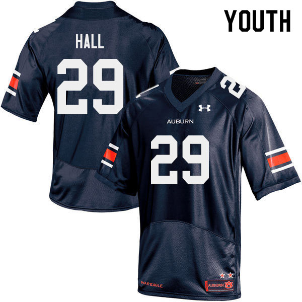 Youth #29 Derick Hall Auburn Tigers College Football Jerseys Sale-Navy
