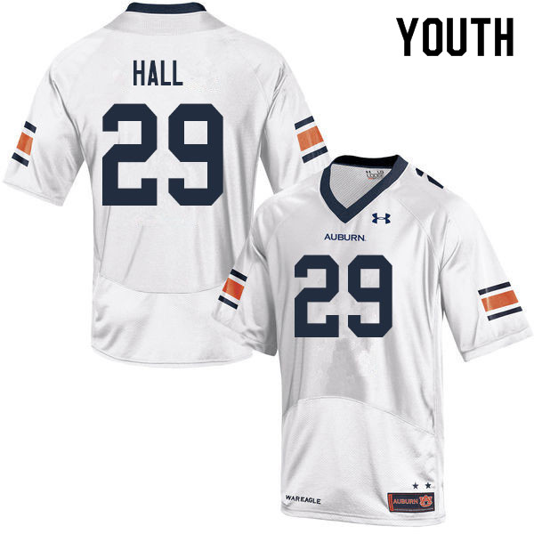 Youth #29 Derick Hall Auburn Tigers College Football Jerseys Sale-White