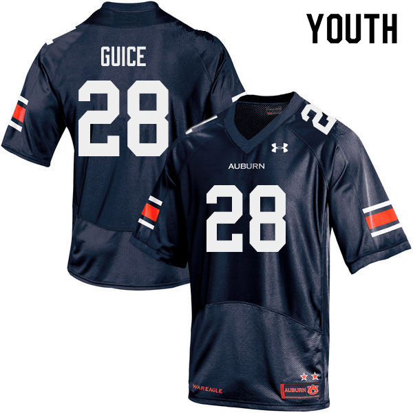 Youth #28 Devin Guice Auburn Tigers College Football Jerseys Sale-Navy