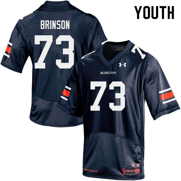 Youth #73 Gabe Brinson Auburn Tigers College Football Jerseys Sale-Navy