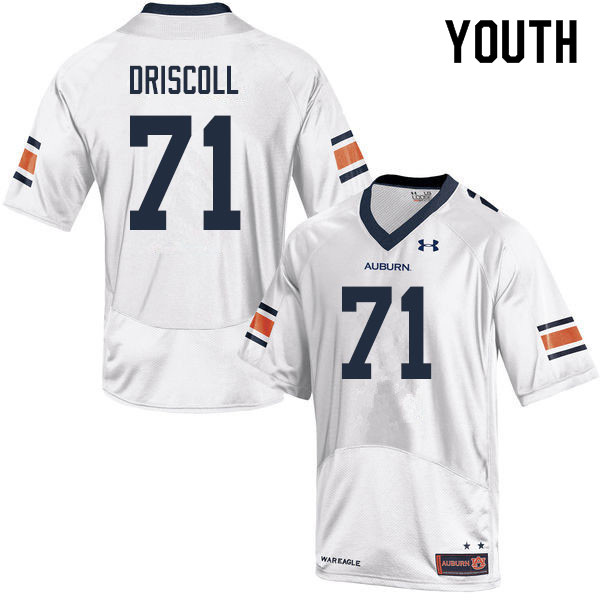 Youth #71 Jack Driscoll Auburn Tigers College Football Jerseys Sale-White