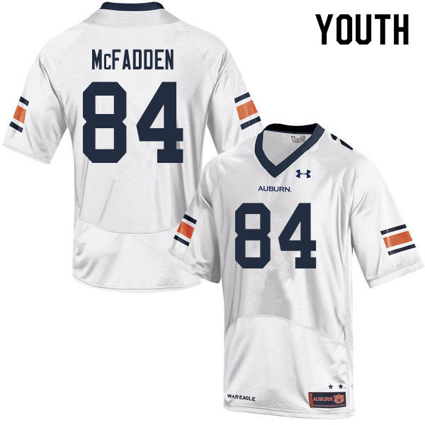 Youth #84 Jackson McFadden Auburn Tigers College Football Jerseys Sale-White