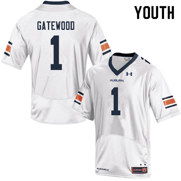 Youth #1 Joey Gatewood Auburn Tigers College Football Jerseys Sale-White