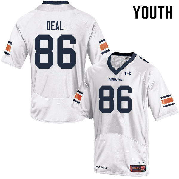 Youth #86 Luke Deal Auburn Tigers College Football Jerseys Sale-White