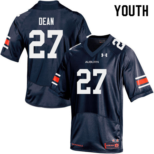 Youth #27 Tanner Dean Auburn Tigers College Football Jerseys Sale-Navy