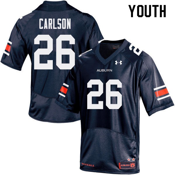 Youth Auburn Tigers #26 Anders Carlson College Football Jerseys Sale-Navy