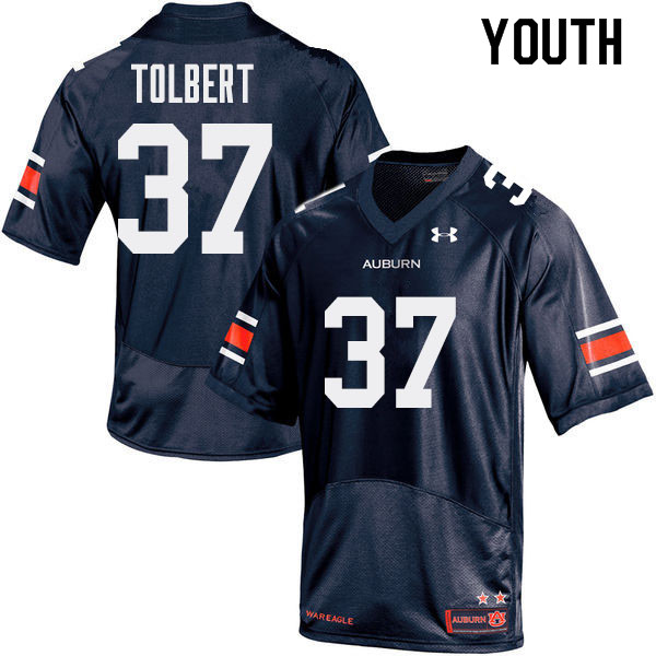 Youth Auburn Tigers #37 C.J. Tolbert College Football Jerseys Sale-Navy