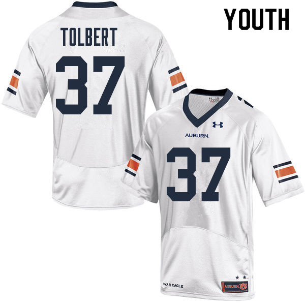 Youth Auburn Tigers #37 C.J. Tolbert College Football Jerseys Sale-White