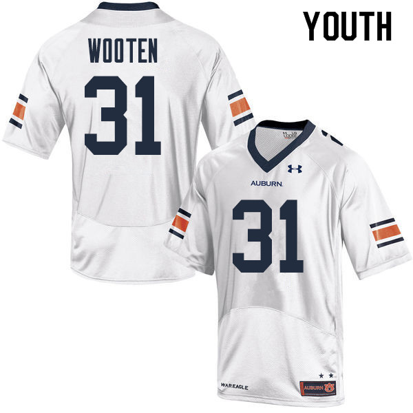 Youth Auburn Tigers #31 Chandler Wooten College Football Jerseys Sale-White