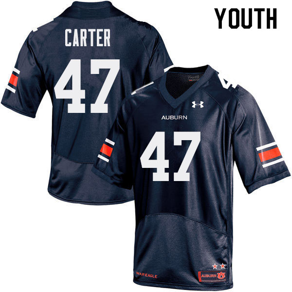 Youth Auburn Tigers #47 Craig Carter College Football Jerseys Sale-Navy