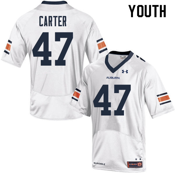Youth Auburn Tigers #47 Craig Carter College Football Jerseys Sale-White
