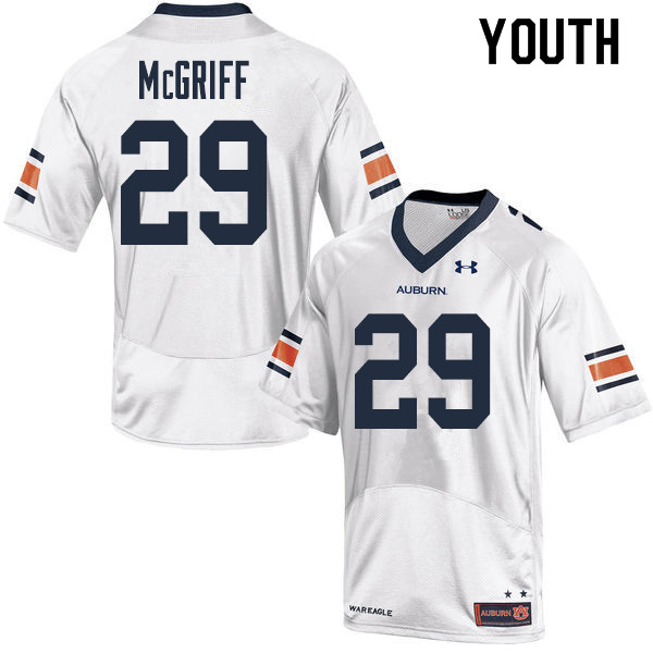 Youth Auburn Tigers #29 Jaylen McGriff College Football Jerseys Sale-White
