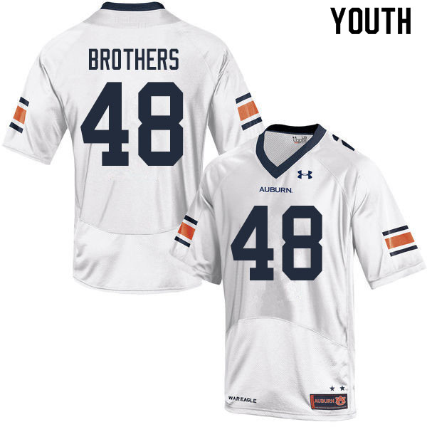 Youth #48 O.C. Brothers Auburn Tigers College Football Jerseys Sale-White