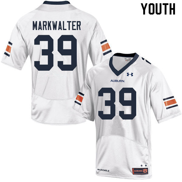 Youth #39 Patrick Markwalter Auburn Tigers College Football Jerseys Sale-White