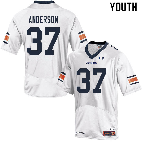 Youth #37 Payton Anderson Auburn Tigers College Football Jerseys Sale-White