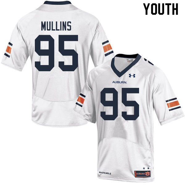 Youth #95 Reece Mullins Auburn Tigers College Football Jerseys Sale-White
