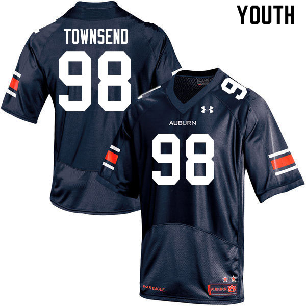 Youth #98 Trent Townsend Auburn Tigers College Football Jerseys Sale-Navy