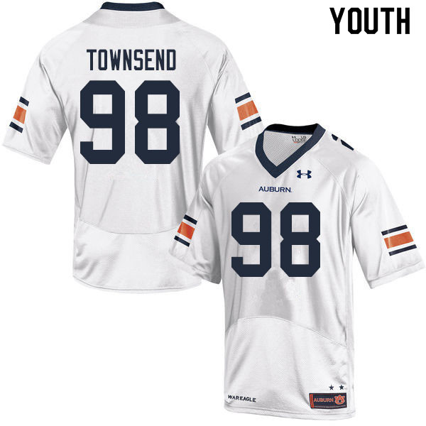 Youth #98 Trent Townsend Auburn Tigers College Football Jerseys Sale-White