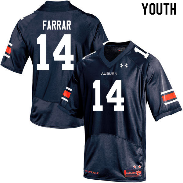 Youth #14 Zach Farrar Auburn Tigers College Football Jerseys Sale-Navy